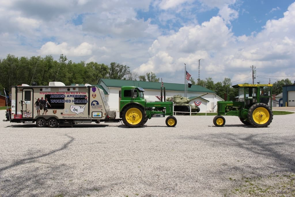 May 19: 44 Miles and Another Traveling Tractor